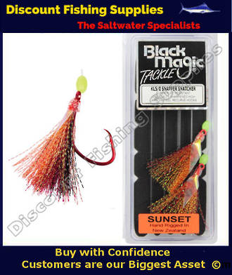 Black Magic Flasher KL5/0 Snapper Snatcher - SUNSET