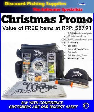 Black Magic Tackle Bag - XMAS PROMO (Total RRP Value $254-)