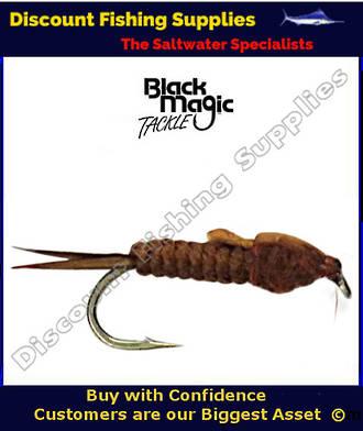 Black Magic Brown Stone Fly Nymph Vinyl Rib #12