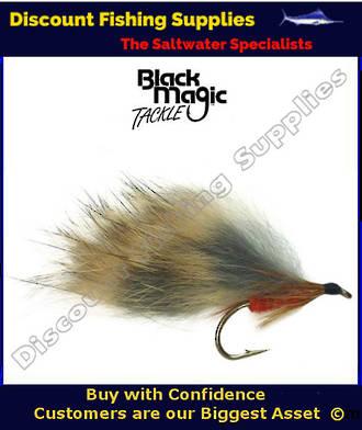 Black Magic Orange Rabbit #8 Trout Fly