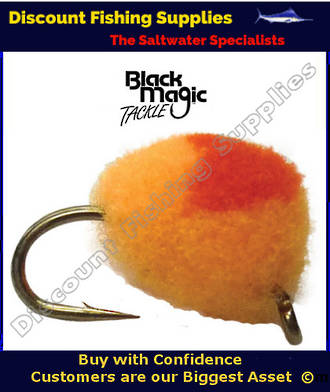 Black Magic Unweighted Mini Globug - Fluoro Orange & Red #14