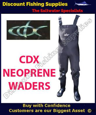 CDX NEOPRENE WADER 4.5MM - SIZE 9-10