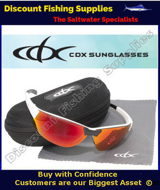 CDX Polarised Sunglasses Bi-Focal - BI-CANE WHITE/BLACK - RED REVO +2 LENSE