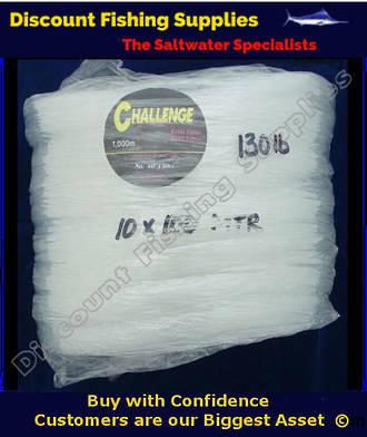 Challenge Premium Fishing Line - 100mt hank of 130lb