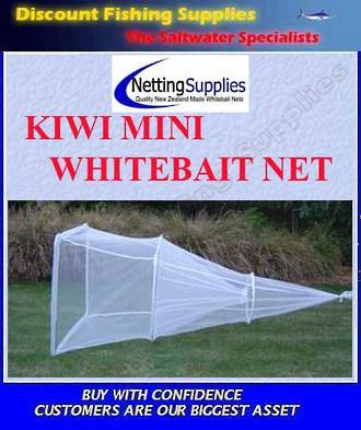 Kiwi Mini - Whitebait Sock Net GREY MESH