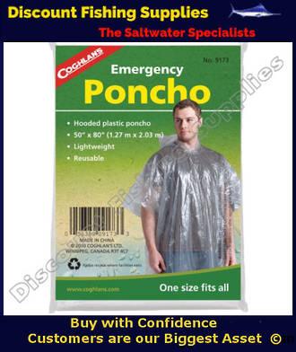 Coghlans Emergency Poncho - Clear