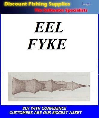 Eel Fyke Net - LGE - 3 Funnel with 10ft Wing