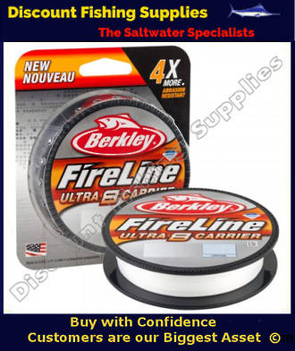 Berkley Fireline - Ultra 8 Carrier Braid - Crystal - 14lb - 300m