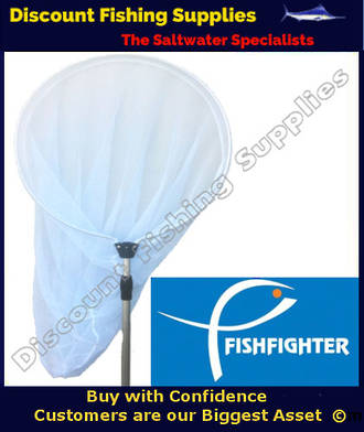 Fishfighter Telescopic Whitebait Scoopnet 600mm GREY MESH
