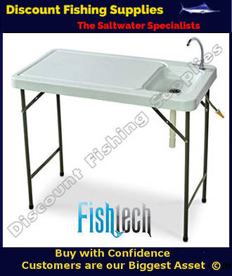 Fishtech Folding Fillet/Camping Table with Faucet