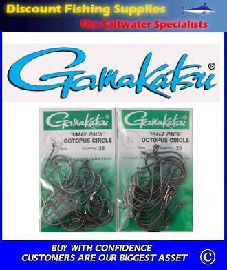 Gamakatsu Octopus/Circle Hook - 6/0 or 7/0 Value Pack