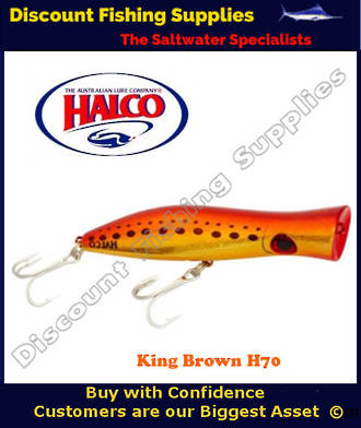 Halco Roosta Popper 135mm King Brown