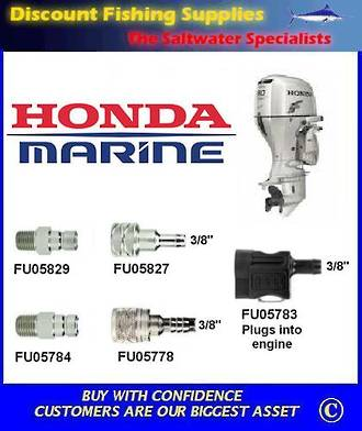 "Honda 3/8"" hose connector Tank end. Scepter/Moeller brand (FU05778)"