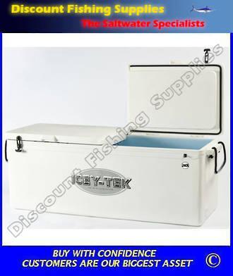 ICEY-TEK Chilly Bin 260ltre Long Style (Double/Lid) White
