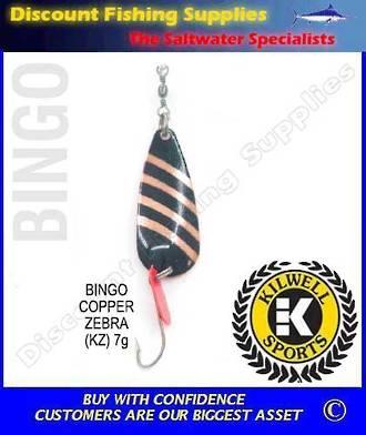 Kilwell Spinner - Bingo Copper Zebra 7g