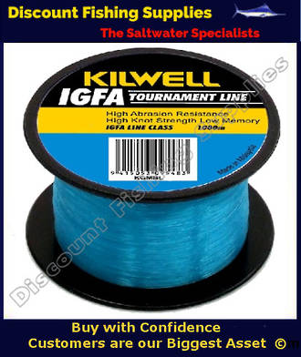 Kilwell IGFA Tournament Fishing Line 24kg X 1000m - Blue