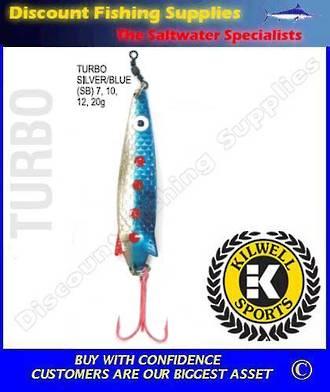 Kilwell Spinner - Turbo Silver/Blue 20g (Treble)