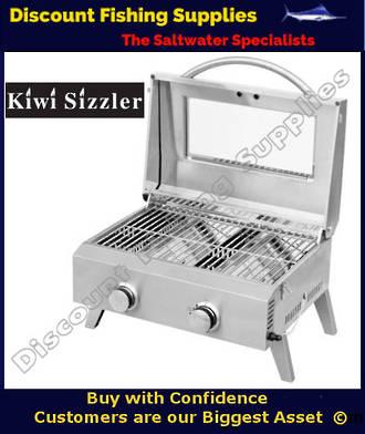 Kiwi Sizzler SS Two Burner BBQ with Window
