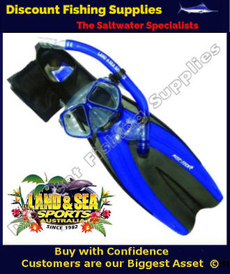 Land & Sea Fiji Snorkeling Set MEDIUM-LARGE