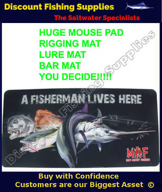 Mad About Fishing Rigging, Bar, Door , Huge Mouse pad / mat