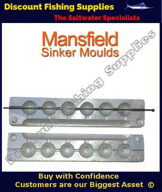 Sinker Mould - Ball Sinker - 6 X 1 and 1/2oz (019)
