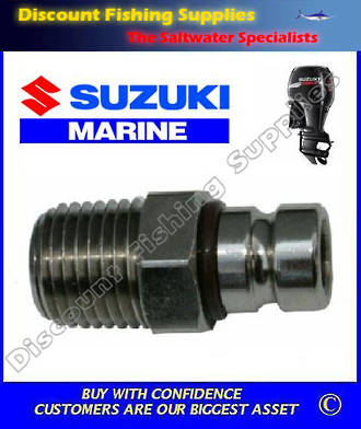 "Suzuki small male tank outlet 1/4"" NPT. Scepter/Moeller brand (FU4065)"