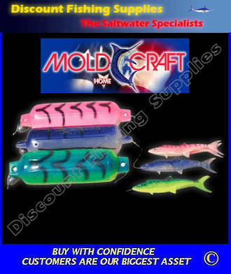 Mold Craft Fish Fender Teaser - Large Green/White
