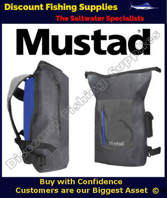 MUSTAD DRY BackPack 30L GREY/BLUE