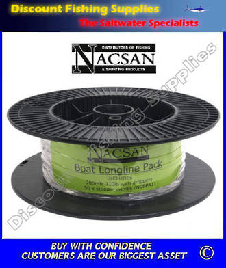 Nacsan Boat Longline Backbone Only - With Droppers