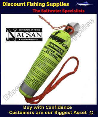 Nacsan Throw Bag Safety Device - Rescue Rope 25m