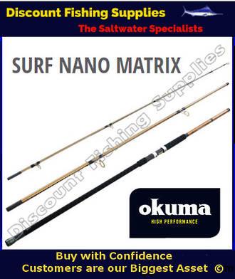 Okuma Nano Matrix Surf Rod 15' 8-12kg 3pc