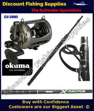 Okuma Solterra 50W II speed & X-Factor 24kg Stand Up Combo