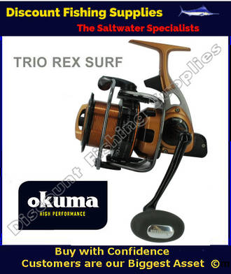 Okuma Trio Rex SURF 60 FD Longcast Surf Reel