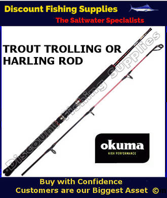 Okuma Trout Stik 1pc 6' Trout Trolling Rod 4-6kg