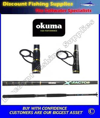 "Okuma Landbased XFactorll 10-15kg 8'6"" Spin Rod 2pc"