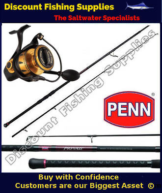 Penn Spinfisher VI 7500 - Prevail II Rock Fishing 9' Combo PE3-5 2pc