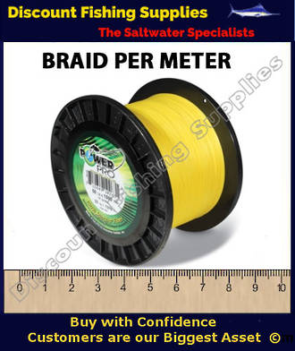 Power Pro Braid PER METER 80lb HiVis