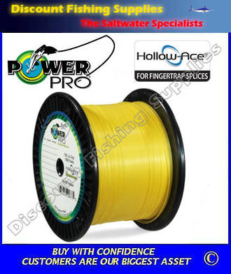 Power Pro Hollow Ace Braid 80lb X 1500yd Hi-Vis Yellow