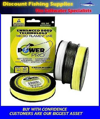 Power Pro Braid 50LB X 300YDS Hi-Vis YELLOW