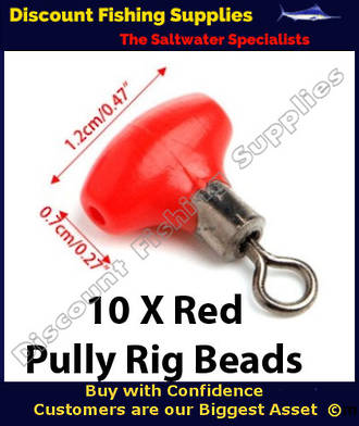Pully Rig Swivel Beads Red 12mm