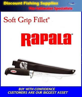 "Rapala Soft Grip Fillet Knife - 9"" (Leather Sheath)"