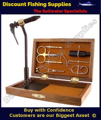 Terra Fly Tying Tool Kit (wooden case) - Royal Coachman