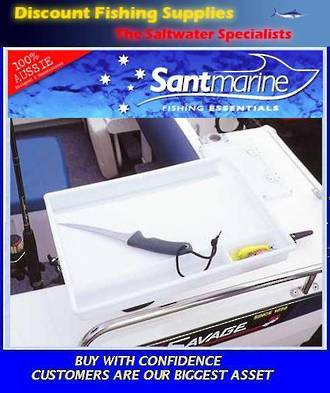 Santmarine Bait Board Small - with rod holder mount