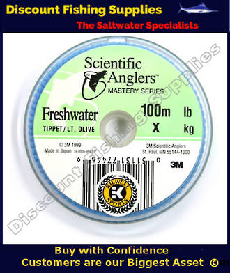 S.A. Mastery Tippet Olive 100m 6lb (3X)