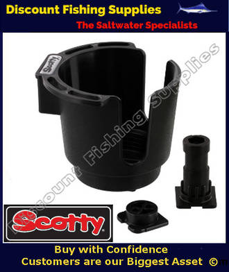 Scotty Cup Holder - Black