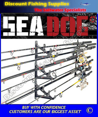 Sea Dog Horizontal Rod Rack - Holds 9 Rods