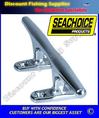 Seachoice Chrome Plated Brass 6 1/2inch Hollow Base Cleat