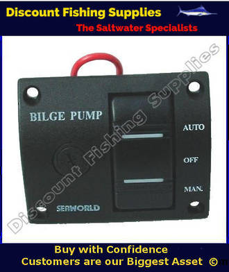 3 Way Bilge Pump Switch - Flush Mount