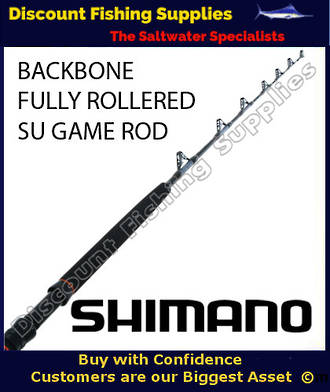 Shimano Backbone Standup Game Rod 24kg FULLY ROLLERED