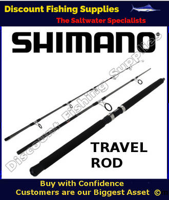 "Shimano Backbone Travel Spin Rod 10-15kg 7'6"" - 3pc"